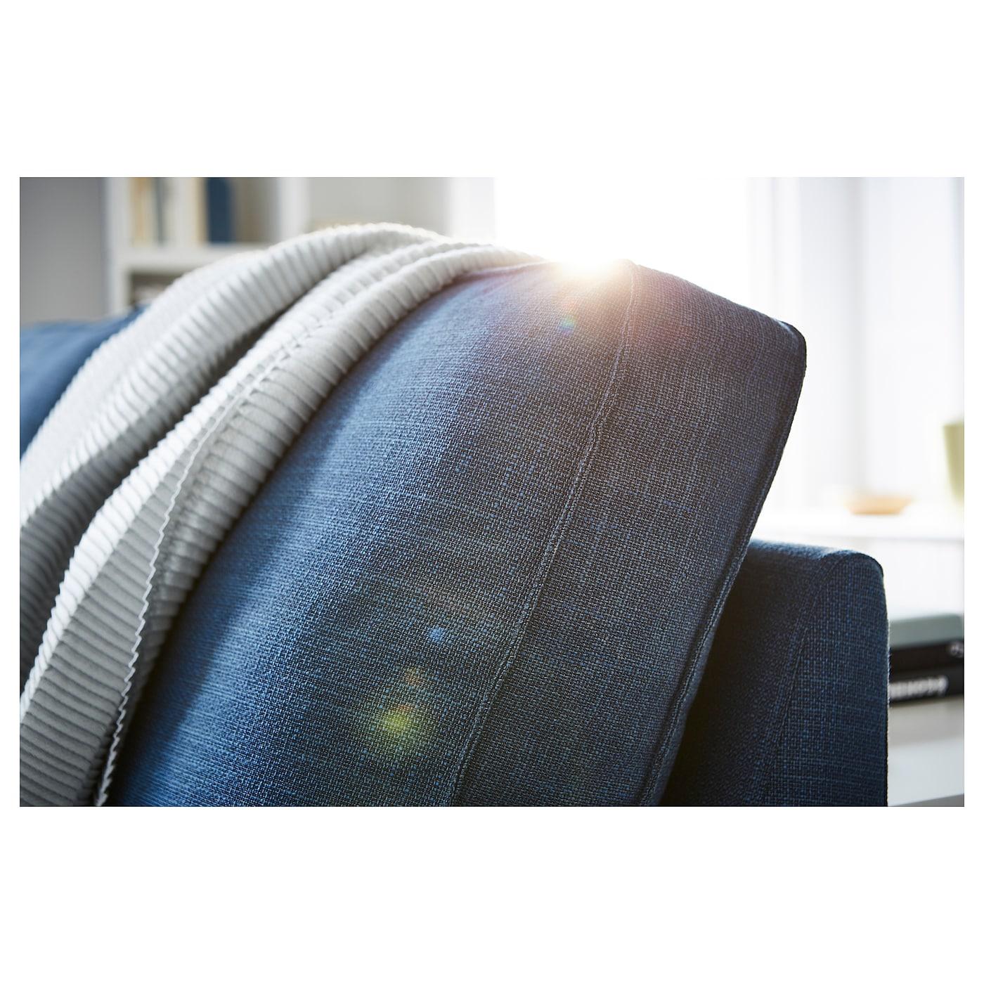 Kivik Corner Sofa 6 Seat With Chaise Longue Hillared Dark Blue Ikea