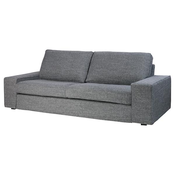 KIVIK cover three-seat sofa Lejde grey/black