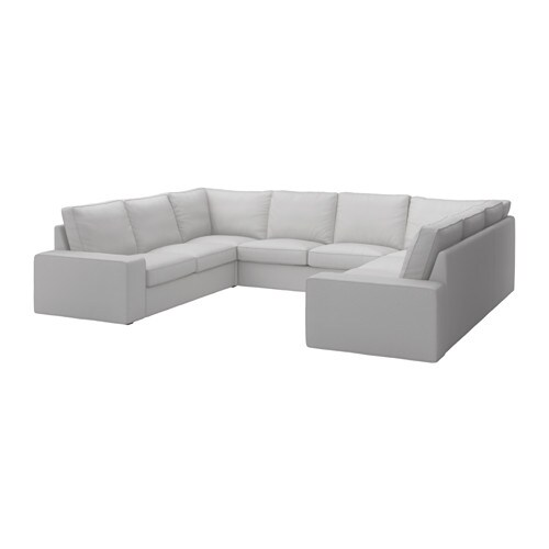 u sofa KIVIK U shaped sofa, 6 seat Orrsta light grey   IKEA u sofa