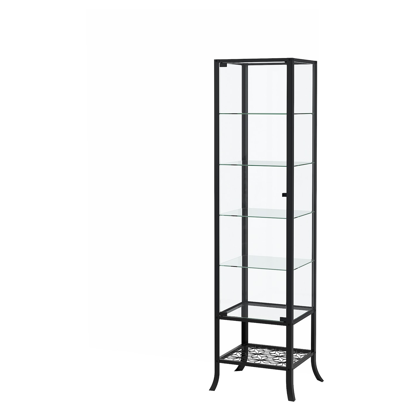 IKEA KLINGSBO glass-door cabinet The accompanying lock allows you to keep your belongings safe.