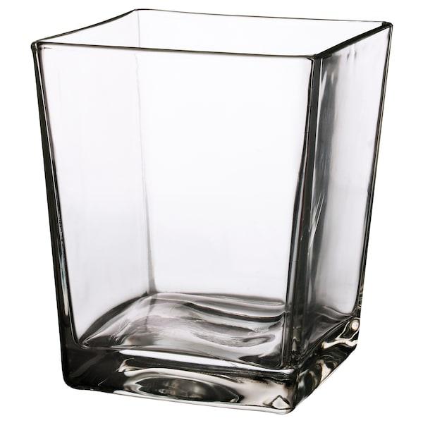 KLOTTRIG Vase, clear glass, 17 cm