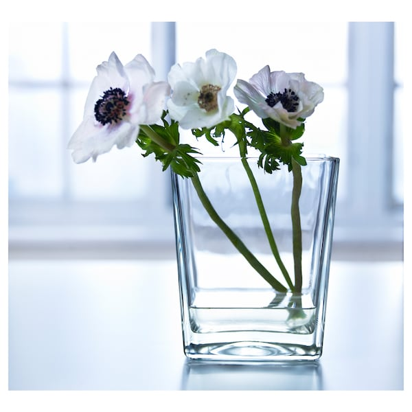 KLOTTRIG vase clear glass 17 cm
