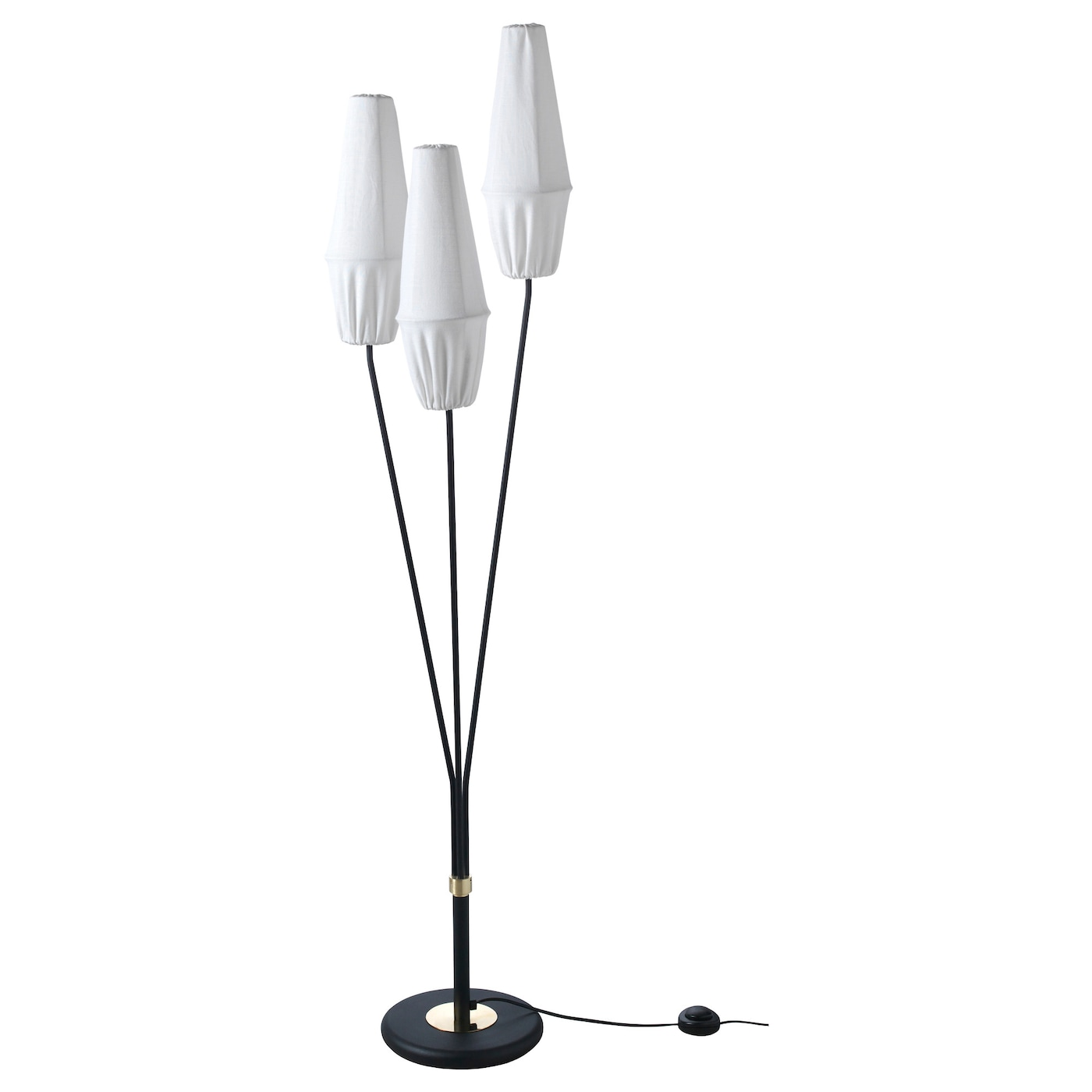IKEA KNÄSJÖ floor lamp The textile shade provides a diffused and decorative light.