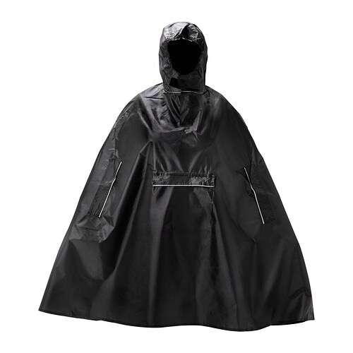 Knalla Rain Poncho Black Ikea