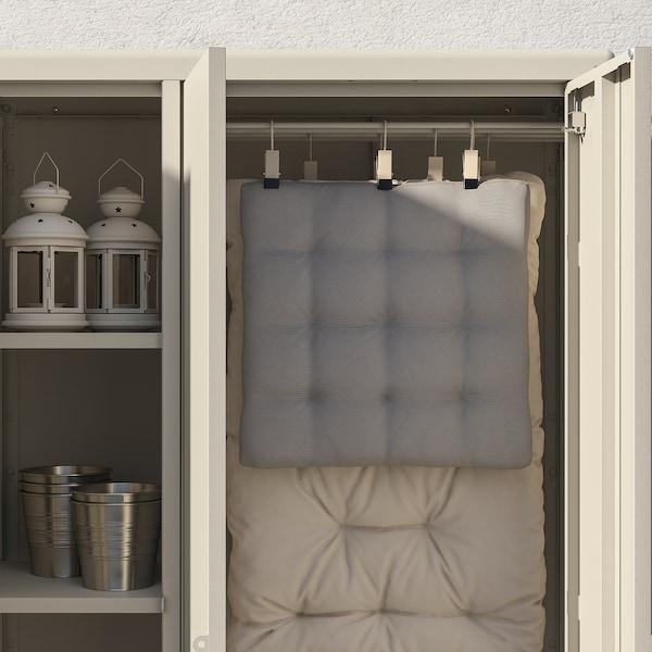 KOLBJÖRN Shelving unit with cabinet, beige, 251x37x161 cm