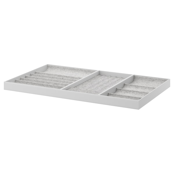 KOMPLEMENT Insert for pull-out tray, light grey, 100x58 cm