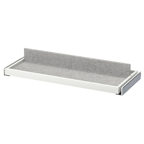 KOMPLEMENT Pull-out tray with shoe insert, white/light grey, 75x35 cm