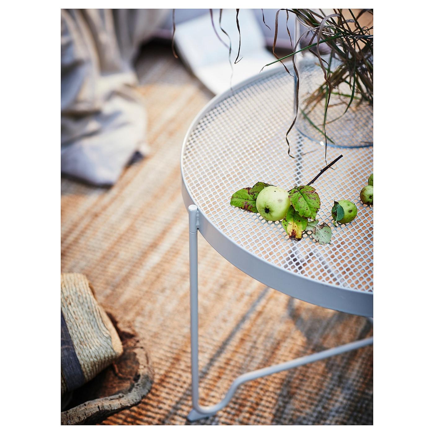 KROKHOLMEN Coffee table, outdoor - beige 5 cm