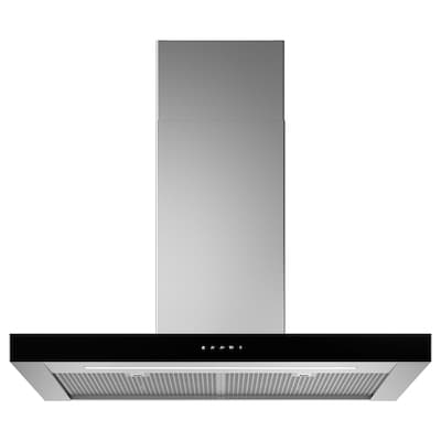KULINARISK Wall mounted extractor hood, stainless steel/glass