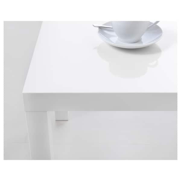LACK side table high-gloss white 55 cm 55 cm 45 cm 25 kg