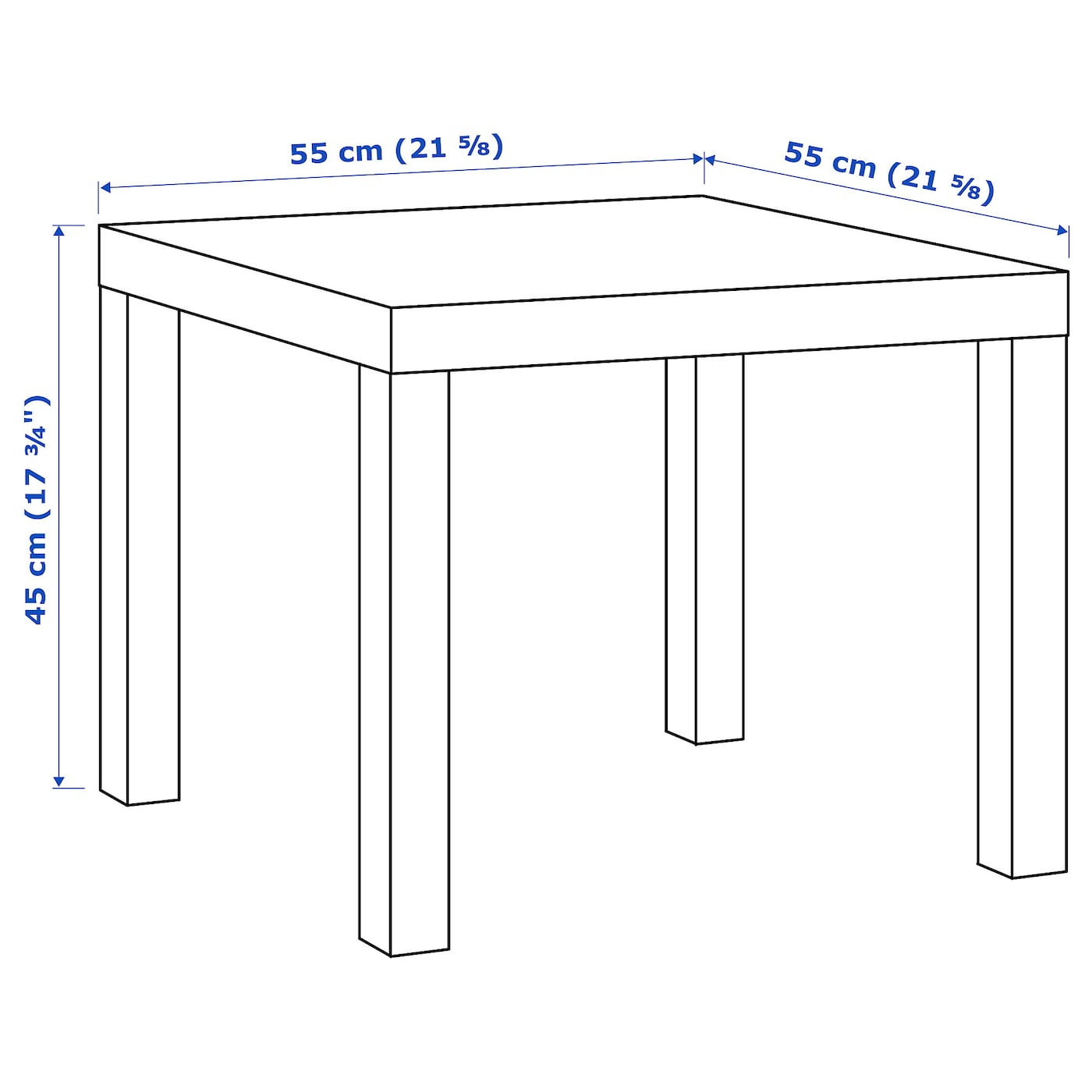 LACK Side table white 55x55 cm