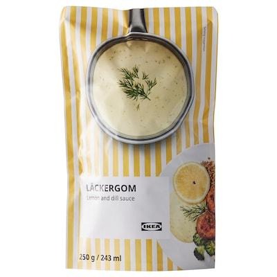 LÄCKERGOM Lemon- and dill sauce, 250 g