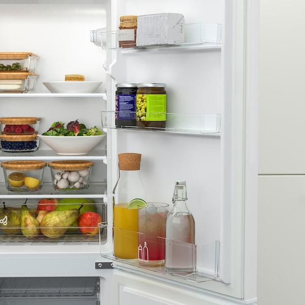 LAGAN Fridge/freezer, freestanding/white, 118/52 l