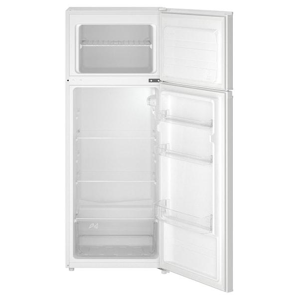 LAGAN Top mounted fridge/freezer, freestanding/white, 163/41 l