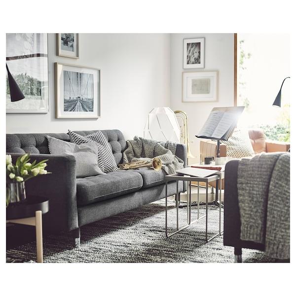 Landskrona 3 Seat Sofa Gunnared Dark Grey Metal Ikea