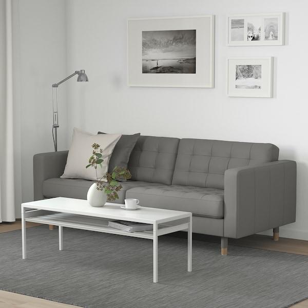 LANDSKRONA 3-seat sofa Grann/Bomstad grey-green/wood 204 cm 89 cm 78 cm 64 cm 180 cm 61 cm 44 cm