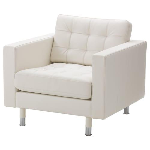 LANDSKRONA armchair Grann/Bomstad white/metal 89 cm 89 cm 78 cm 65 cm 61 cm 44 cm
