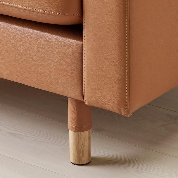 LANDSKRONA chaise longue, add-on unit Grann/Bomstad golden-brown/wood 78 cm 158 cm 78 cm 128 cm 44 cm