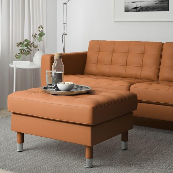 LANDSKRONA footstool Grann/Bomstad golden-brown/metal 77 cm 65 cm 44 cm