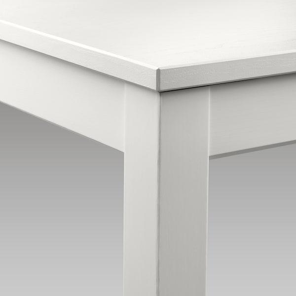LANEBERG Extendable table, white, 130/190x80 cm