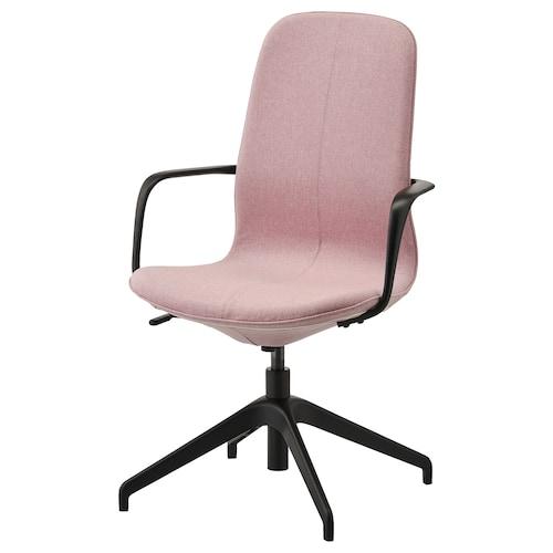 LÅNGFJÄLL conference chair with armrests Gunnared light brown-pink/black 110 kg 67 cm 67 cm 104 cm 53 cm 41 cm 43 cm 53 cm