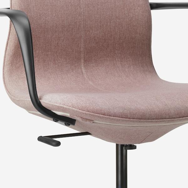 LÅNGFJÄLL office chair with armrests Gunnared light brown-pink/black 110 kg 68 cm 68 cm 104 cm 53 cm 41 cm 43 cm 53 cm