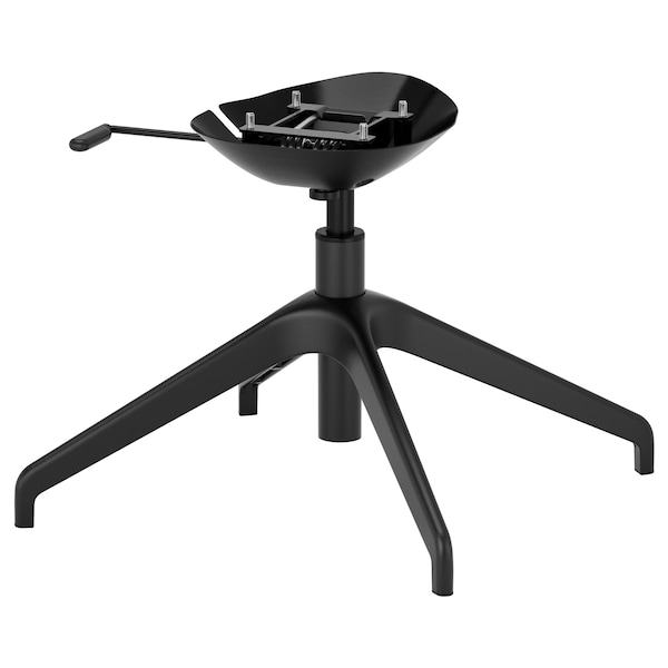 LÅNGFJÄLL Star base with 4 legs, black