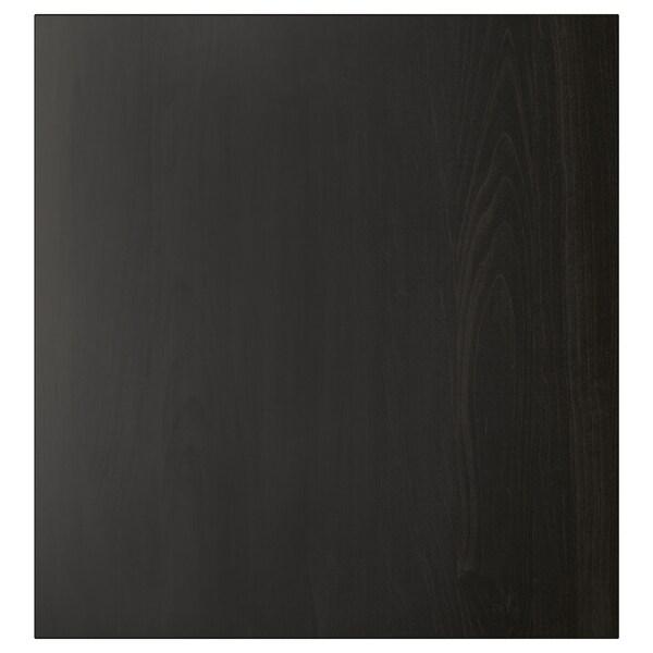 LAPPVIKEN Door, black-brown, 60x64 cm