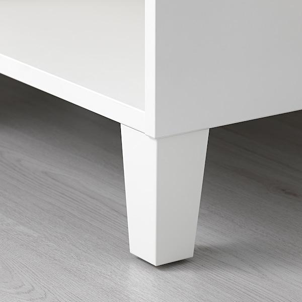 LÄTTHET Leg, white/wood, 11 cm