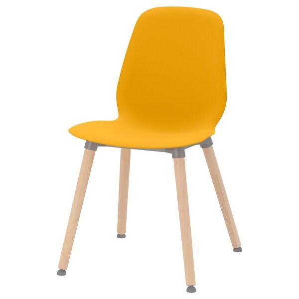LEIFARNE Chair, dark yellow/Ernfrid birch