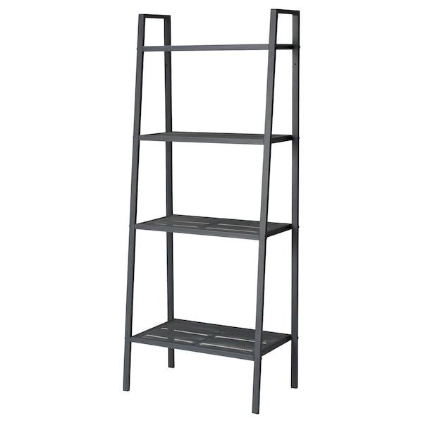 LERBERG Shelf unit, dark grey, 60x148 cm
