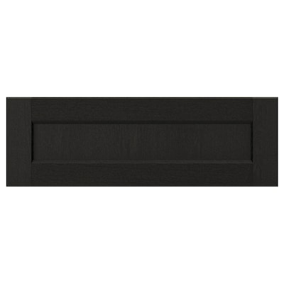 LERHYTTAN Drawer front, black stained, 60x20 cm