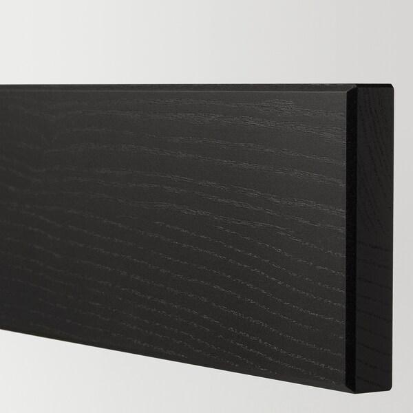 LERHYTTAN drawer front black stained 79.7 cm 10 cm 80 cm 9.7 cm 1.9 cm 2 pack