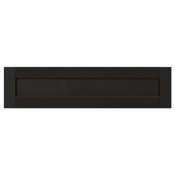 LERHYTTAN drawer front black stained 79.7 cm 20 cm 80 cm 19.7 cm 1.9 cm