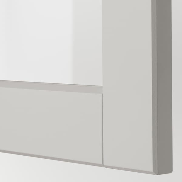 LERHYTTAN Glass door, light grey, 40x60 cm