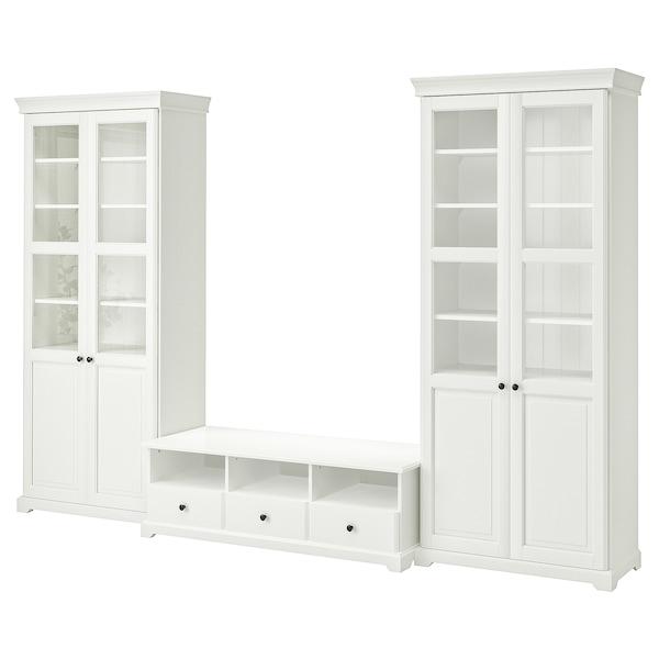 LIATORP TV storage combination, white, 331x214 cm