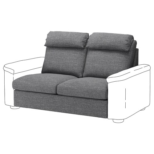 LIDHULT 2-seat sofa-bed section Lejde grey/black 95 cm 76 cm 160 cm 97 cm 53 cm 38 cm 140 cm 200 cm