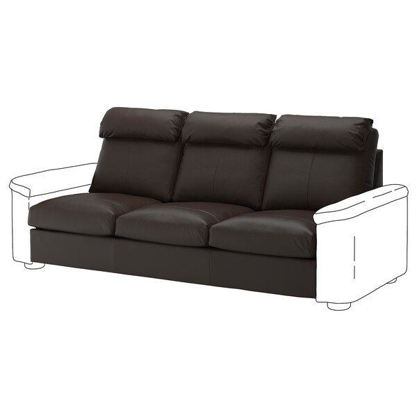 LIDHULT 3-seat section Grann/Bomstad dark brown 95 cm 74 cm 211 cm 98 cm 7 cm 211 cm 58 cm 42 cm
