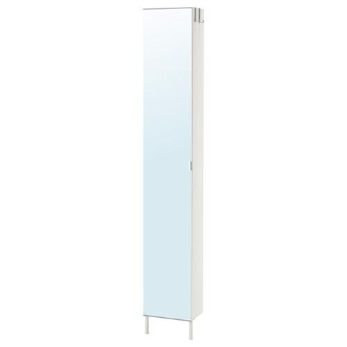LILLÅNGEN high cabinet with mirror door white 30 cm 21 cm 189 cm