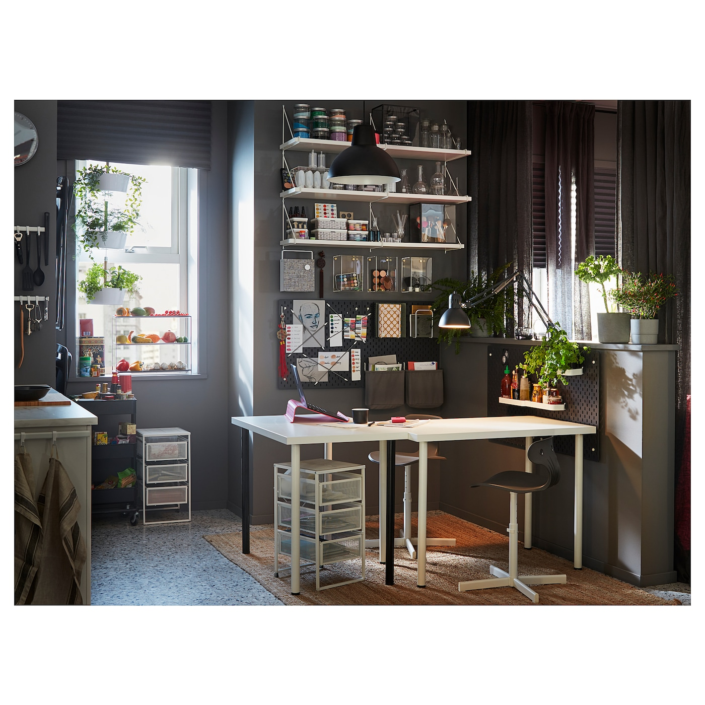 ikea desk linnmon adils combination