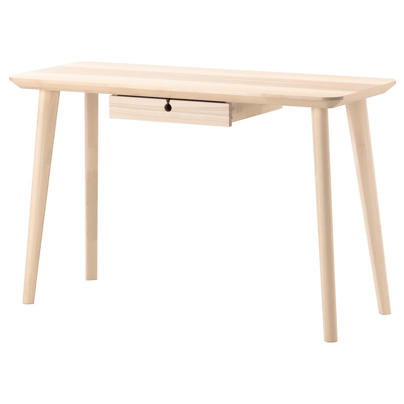 LISABO Desk Ash veneer 118 x 45 cm - IKEA