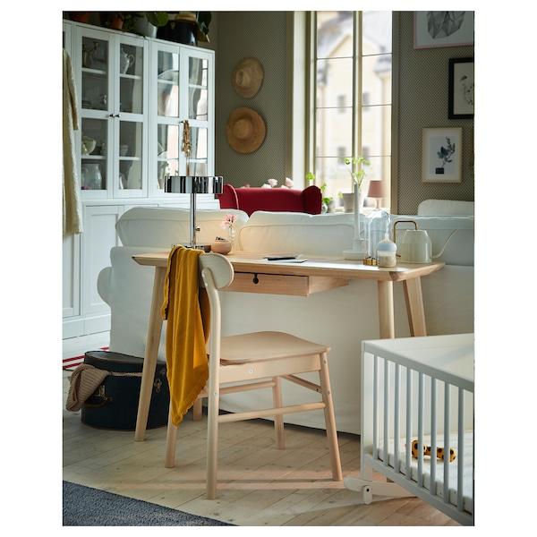 LISABO Desk, ash veneer, 118x45 cm