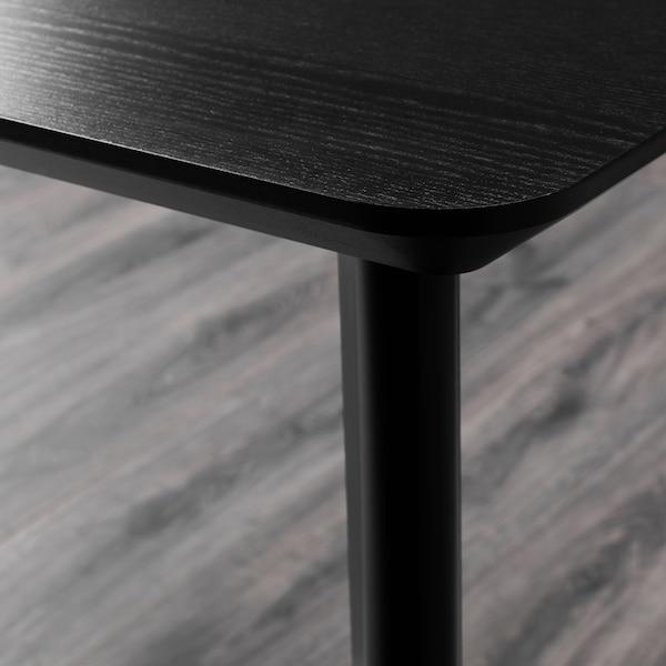 LISABO / IDOLF Table and 4 chairs, black/black, 140x78 cm