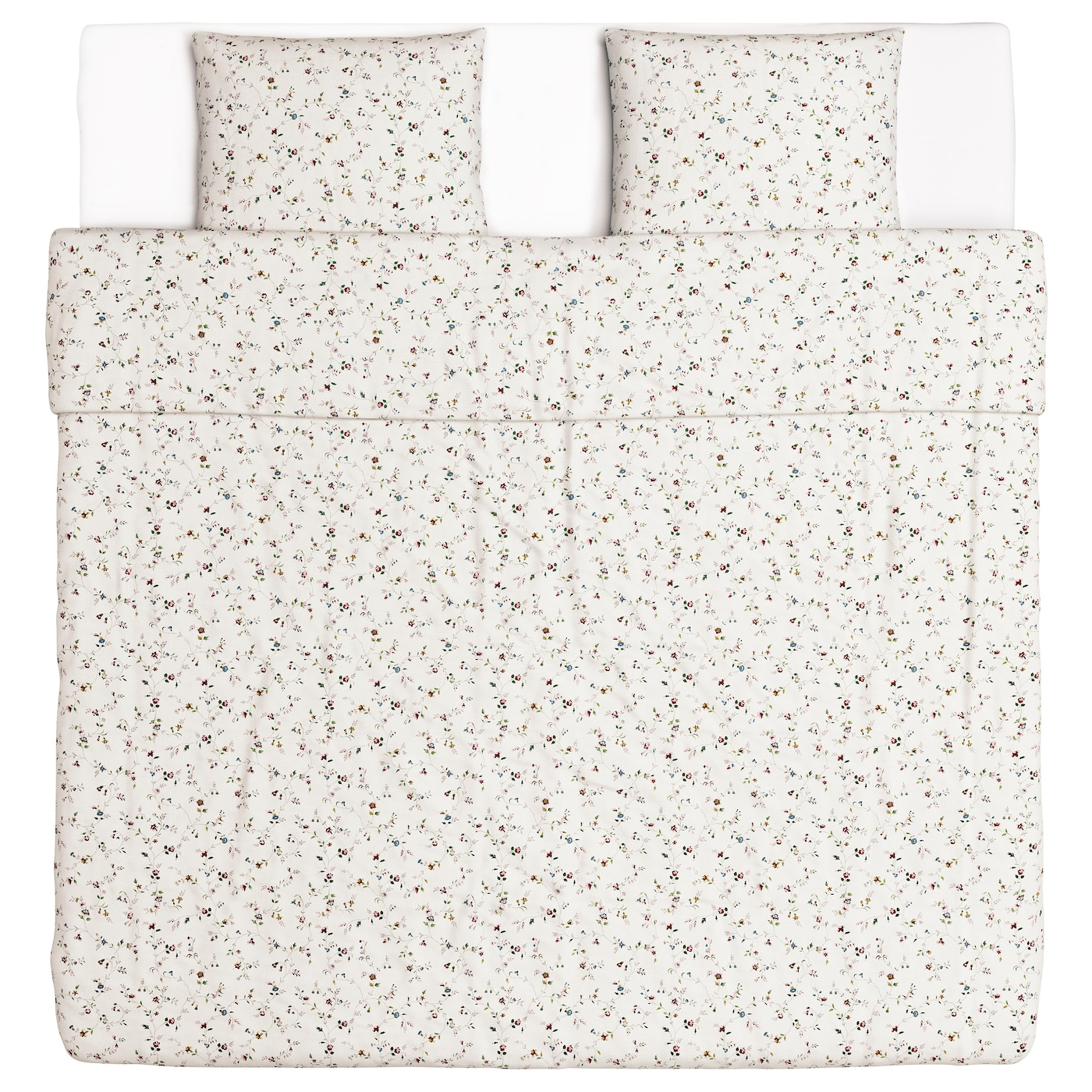 IKEA LJUS–GA quilt cover and 2 pillowcases Pure cotton that feels soft and nice against your