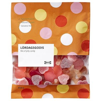 LÖRDAGSGODIS Mix of jelly candy, 450 g