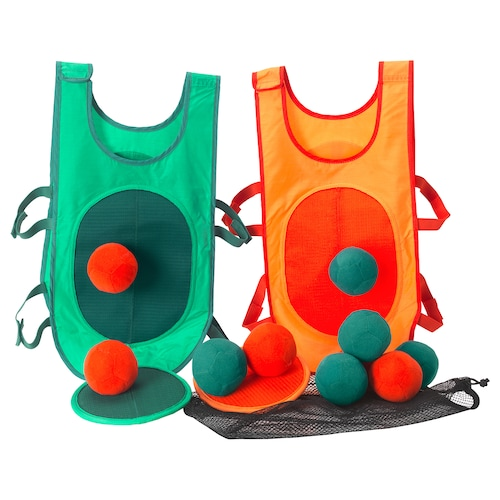LUSTIGT tag game with vest and balls 120 cm 60 cm