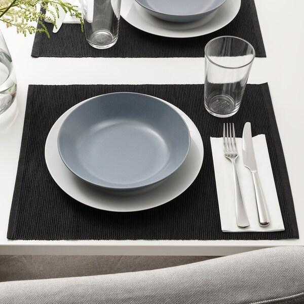 MÄRIT place mat black 45 cm 35 cm