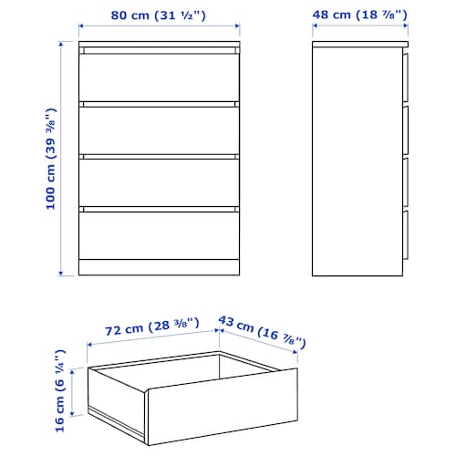 ikea malm bed parts list