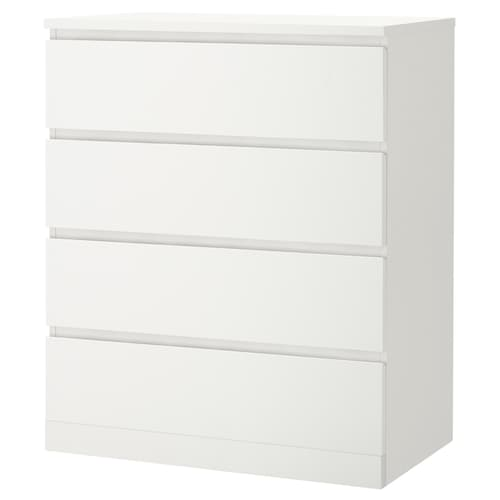MALM chest of 4 drawers white 80 cm 48 cm 100 cm 72 cm 43 cm