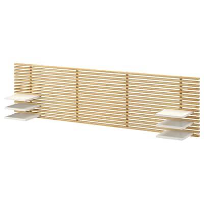 MANDAL Headboard, birch/white, 240 cm